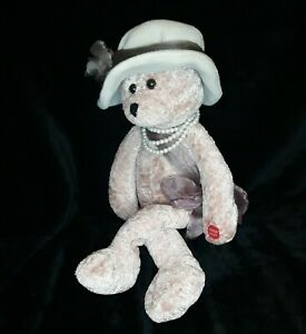 """Chantilly Lane Musical Soft Pink Bear Rose Singing """"Love"""" Plush Animated"""