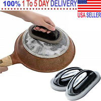 Sponge Kitchen Pot Brush with Handle Reusable and Washable Eraser Cleaner Rust