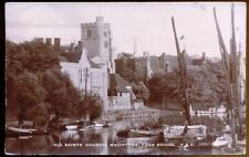 All Saints Church, Maidstone. 1915 Vintage Real Photo Postcard. Free UK Postage