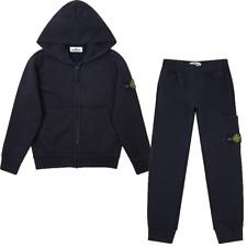 Original kids Stone Island Junior BLACK hoody tracksuit  RRP £305 Age 10 BNWT