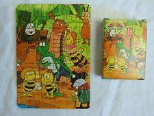 2 puzzles 54 pièces vintage des années 1970/1980 : Maya l'abeille