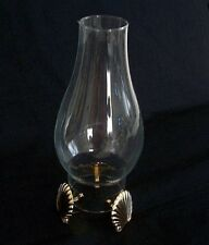 PartyLite Brass SeaShell Seacrest Hurricane Lamp Shade Risers Set of 3 P7009