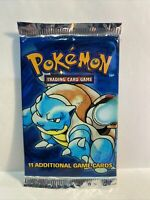 Pokemon Base Set Booster Pack Blastoise Art Factory Sealed 1999 WOTC