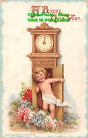 R444492 A Happy New Year. 1912. Frances Brundage. Greeting Card. Postcard Series