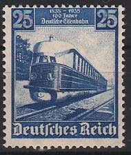 DR 582, 25Pf Eisenbahn tadellos postfrisch, tief gepr. BPP!!! Mi 45 EUR!!!