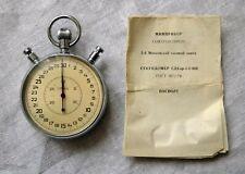 1979 SLAVA Mechanical Stopwatch Russian Moscow 2nd Watch Factory Chronometer