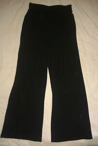Elasticated Waist Wide Leg Black Trousers - Size UK 12 EU 40 - New
