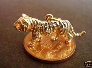LOVELY 9CT 9K GOLD '  TIGER '  CHARM CHARMS
