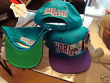 CHARLOTTE HORNETS RARE G-CAP   hat cap vintage 1990's SNAPBACK cp3 v
