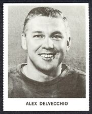 1965 COCA-COLA COKE ALEX DELVECCHIO EX-NM DETROIT RED WINGS HOCKEY CARD