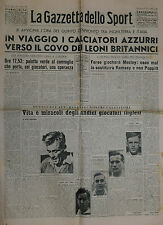 La Gazzetta dello Sport  N°280 /27.NOV.1949 - MOZLEY -RAMSEY -POPPITT -ROWLEY -