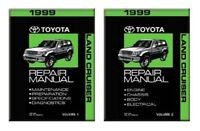 1999 Toyota Land Cruiser Shop Service Repair Manual Book Engine Drivetrain OEM