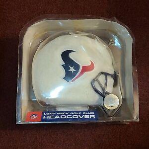 NFL Houston Texans Football Fuzzy White Golf Club Driver Long Neck Headcover NEW