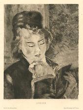 """Renoir etching """"Liseuse"""""""