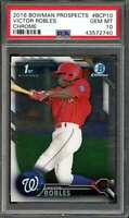 Victor Robles Rookie Card 2016 Bowman Prospects Chrome #BCP10 PSA 10