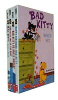 Bad Kitty 4 Books Box Set Funny Cat Stories Kids Boys Bruel Comic Strip Fun New