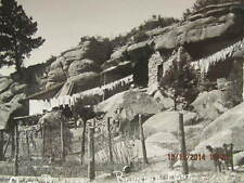 Vtg. RPPC Post Card Cliff Dwellers at Roundup MT Laundry on Clothes Line 1915-20