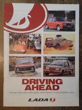 LADA RANGE orig 1994 UK Mkt Publicity Brochure Samara Juno Rallying Niva Cossack