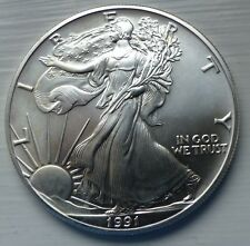 1991 SILVER EAGLE , HAS MDM CERTIFICATE OF AUTHENTICTY