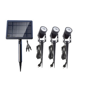Garden Outdoor Waterproof LED 3pc Solar Spot Lights Landscape Lighting IP65