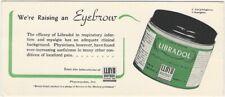 Vintage Libradol Respiratory & Myalgia Pharmaceutical Advertising Blotter