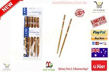 Bamboo Chopsticks 5 Pairs Reusable Japanese Style High Quality 22.5CM Brown Syd