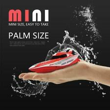 Mini Kids Children Remote Control Super Speed Boat Outdoor RC Racing Toys W8K2