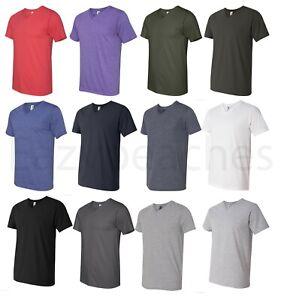 Anvil Mens NEW Size S-3XL V-Neck Fashion Fit UNISEX T-Shirt 100% COTTON Tee 982
