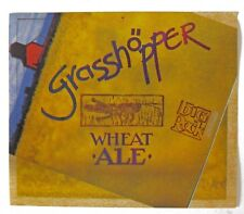 Big Rock Brewery GRASSHOPPER WHEAT ALE beer label CANADA