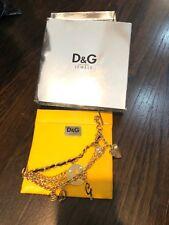 "Dolce & Gabbana Jewels DJ0508 Women's Charms Multi-Strand T-Bar Bracelet 6 1/4"""