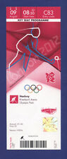 Orig.Ticket  Olympic Games LONDON 2012 - HOCKEY 9.Place  ARGENTINA - NEW ZEALAND