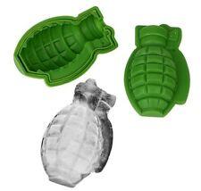 GRENADE SILICONE MOULD/MOLD-ICE CUBE TRAY/CAKE/JELLY/ARMY GIFT-3D REUSEABLE-UK