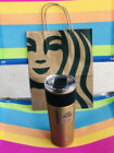 NEW Starbucks Fall 2021 Gold Stainless Steel Cold Brew Tumbler 16oz Cold Cup NWT