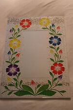 SUPERBA A Mano Mosaico Specchio con fiori colore 60 x 40 cm di larghezza