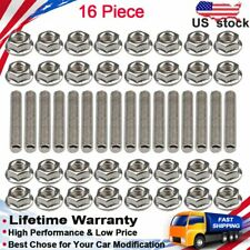 For 4.6 & amp; 5.4 LITER Stainless Steel Exhaust Manifold Studs Stud Nuts Bolt