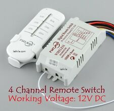 E73P DC12V 4 Way Channel RF Wireless Remote Control Switch with 12V 23A Battery