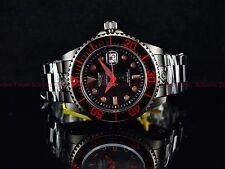 Invicta 300m Men's Fire Red Stealth Combat Black Grand Diver Automatic SS Watch