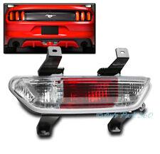15-17 FORD MUSTANG GT SHELBY V6 REAR BACKUP BRAKE REVERSE LIGHT LAMP CHROME/RED