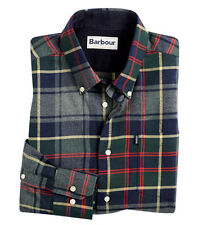 NWT - BARBOUR Men's 'ALVIN' PLAID CHECK' Grey Marl LONG-SLEEVE OXFORD SHIRT - M