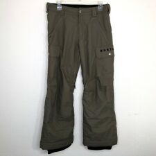 Burton Dryride Unisex Snow Pants Olive Green Flap Pockets Insulated Lined XL
