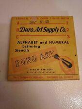 """Duro Art Stencil Letter Box - 2 1/2"""" letters"""