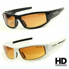 UNISEX SPORT WRAP HD NIGHT DRIVING VISION SUNGLASSES HIGH DEFINITION GLASSES