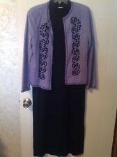 Koret Dress & Jacket Light Purple/Black 100% Acryic Size Small Romania