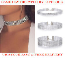 Fashion Women Diamond Crystal Rhinestone Choker Necklace Wedding Jewellery 3Pack