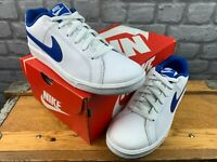 NIKE MENS UK 8 EU 42.5 COURT ROYALE WHITE BLUE LO TOP TRAINERS RRP £50 AD