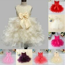 New Princess Baby Girls Dress Flower Christening Lace Wedding Party Kids Skirts