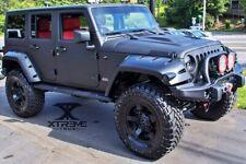Textured Black 07-18 Jeep Wrangler JK Pocket Rivet Wide Fender Flares Set 4