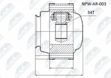 NEW NTY INNER CV JOINT FOR ALFA ROMEO 156/NPW-AR-003/