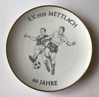 Vintage Heinrich Porzellan Selb Germany Collector Plate Soccer Players Mettlach