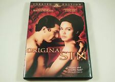 Original Sin DVD Unrated Edition Antonio Banderas, Angelina Jolie, Thomas Jane